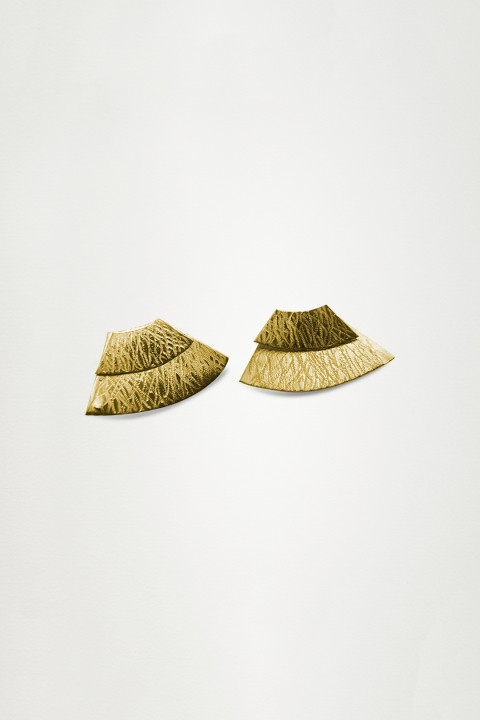 Unadorned Jewelry Design Gold The Twice Wave Küpe
