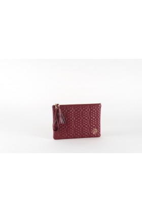 A & A Clutches Etc. - Pera Maxi Burgundy Çanta