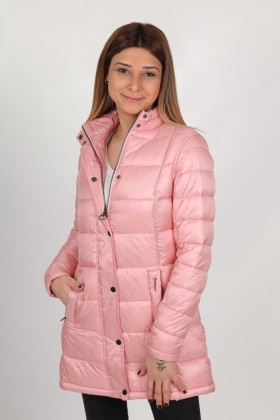 Barbour - Barbour Clyde Long KApitone Mont PI31 Rose Mauve