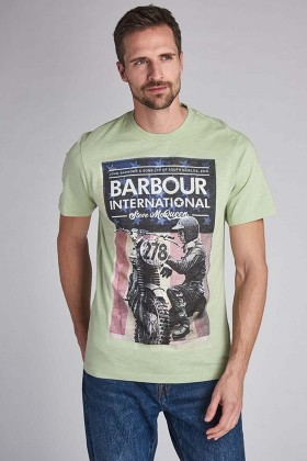 Barbour International - B.Intl Steve Mcqueen® Fixer T-Shirt GN16 Vİntage Green