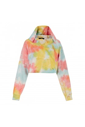 Fineapple - Pastel Batik Crop Sweatshirt