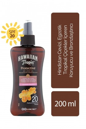 Hawaiian Tropic - Hawaiian Tropic Tropical Dry Spray Oil SPF20 UVProtect Coconut & Guava 200 ml - Koruyucu ve Bronzlaş