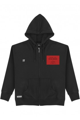 For Fun - Crying Session Siyah Unisex Zip Up Hoodie