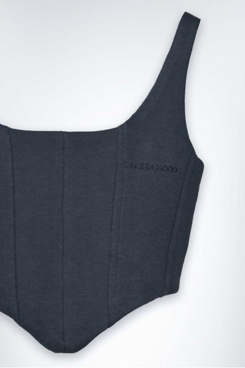 Muse and Mood Melpomene Bustier Orion Grey