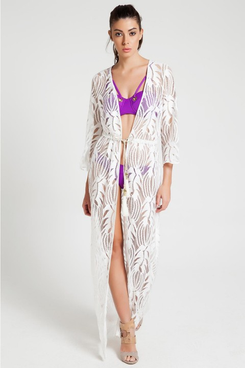 Selyn's Beachcouture Beyaz Maia Kaftan